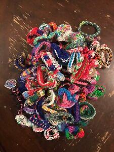 Lot of Rainbow Loom Bracelets