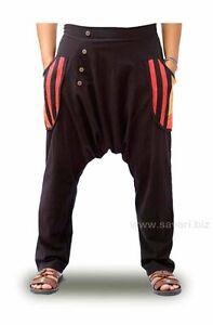 Pantalones-Etnicos-Hippies-Cagados-bolsillos-cintura-elastica