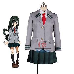 Details About Boku No Hero Academia Asuitsuyu Yaoyorozu Momo School Uniform Cosplay Costume