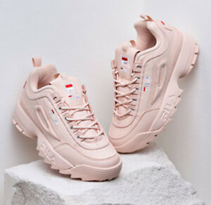 new arrival fila disruptor ii 2 women pink shoes authentic us size fast ship ebay. Black Bedroom Furniture Sets. Home Design Ideas