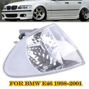 Corner-Light-Turn-Signal-Lamp-Passenger-Side-Clear-Fits-BMW-E46-Sedan-1999-2001