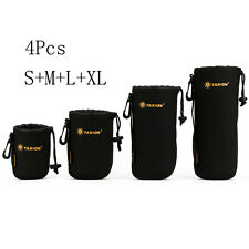 4X Neoprene Lens Soft Protector Pouch Case Bag for DSLR Camera Canon Sony Nikon