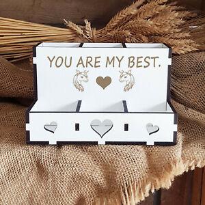 Stiftebox « YOU ARE MY BEST » Einhorn Stiftehalter Geschenk Einschulung Mädchen
