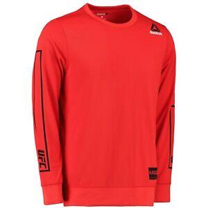 Reebok Men/'s Crossfit Cordura Jaquard Training Red Sweatshirt AI1358