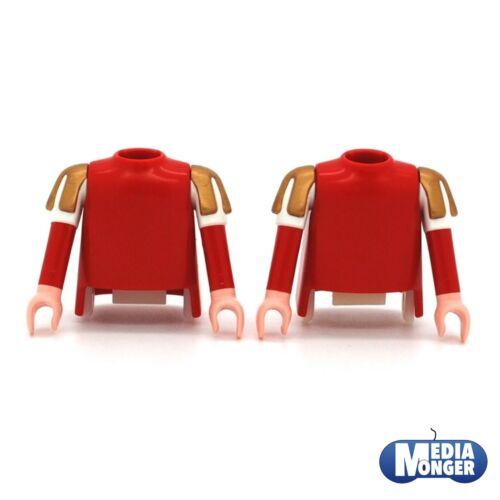 playmobil® 2 x Oberkörper rotweissgold mit ArmeRitterWikinger