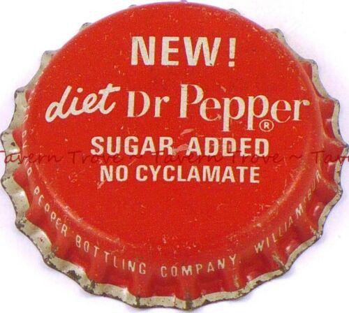 1960s KENTUCKY Williamsburg NEW DIET DR PEPPER Cork Crown Tavern Trove