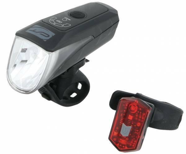 CONTEC USB batería LED iluminación Set  24sevenPlus  70 Lux, con sensor, STVZO