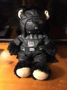 Star Wars Darth Vader Build A Bear Teddy Bear Plush Stuffed Animal w Button