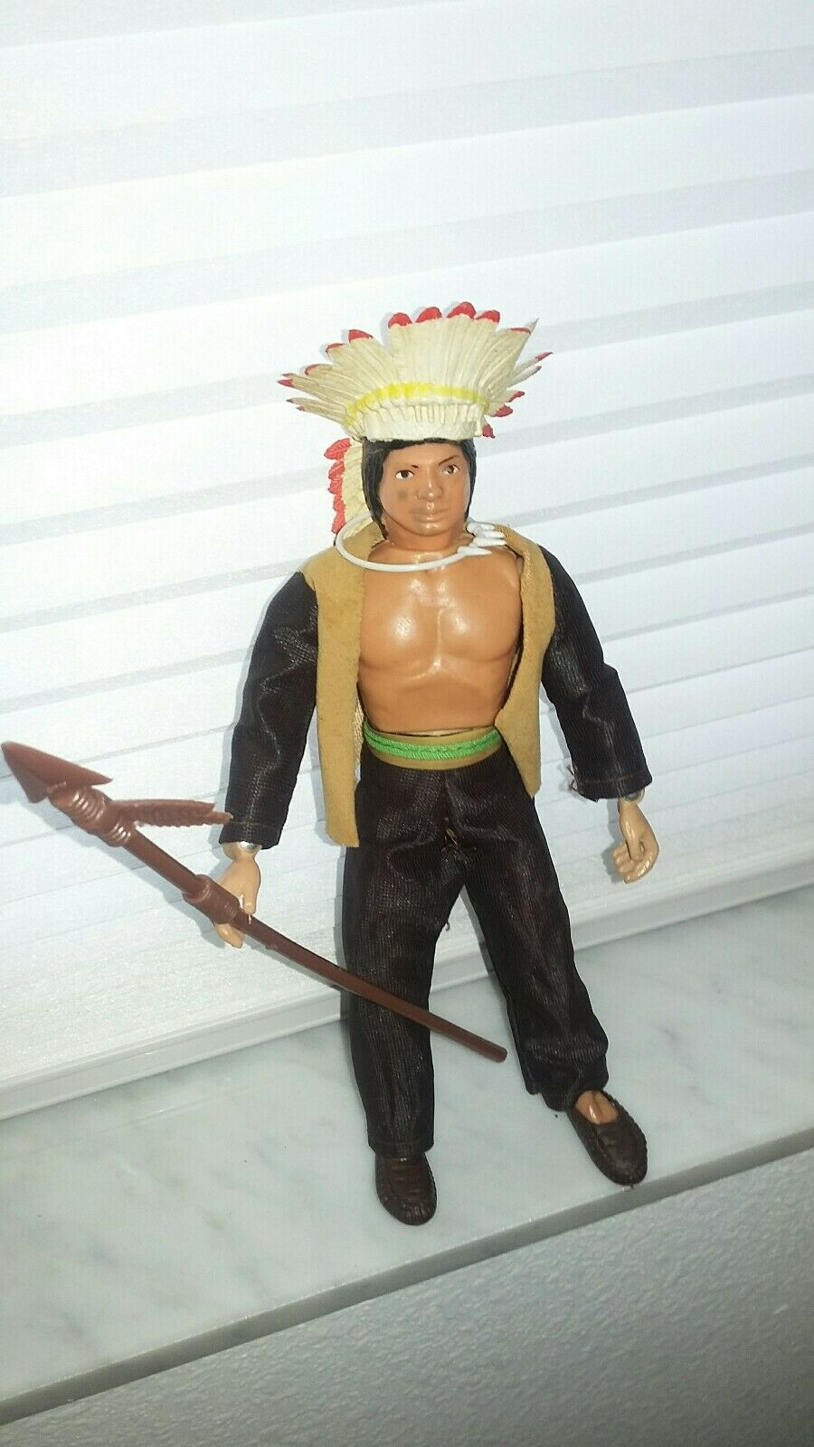 Mego Sitting Bull Indian Figue 8  original WGSH western heroes