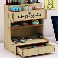 Desktop Pen Box Office Pencil Drawer Organizer Desk Storage Rack Brush Container