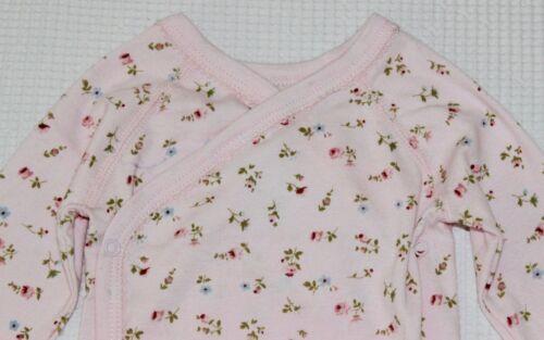 68 Petit Bateau Langarm-Wickelbody NEU rosa Blümchenmuster Gr.60 62 oder 67