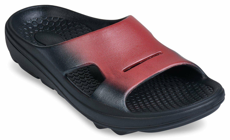 Spenco Fusion 2 Slide - Women's Recovery Sandal Red-fade - 9 Medium