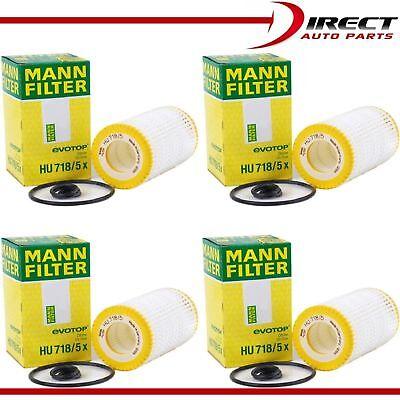 4 Pack Genuine OEM Mann Filter HU718//5x Oil Filter Fleece For Mercedes Benz