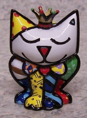 Figurine Romero Britto Animal Royal Princess Cat first edition NEW with gift box