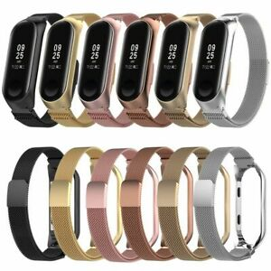 For-Xiaomi-Mi-Band-4-3-Metal-Band-Stainless-Steel-Milanese-Loop-Wristband-Strap