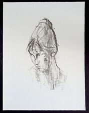 Hans Theo Richter Kopf Uta geneigt Lithographie 1959 handsigniert