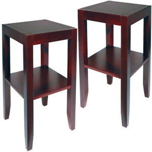 PACK-OF-2-Solid-Wood-End-Telephone-Side-Bedside-Table-Wenge-OC1102x2