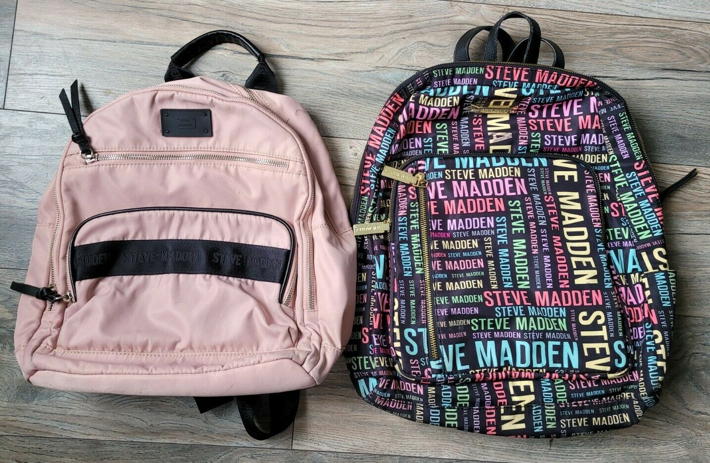 Steve Madden Womens Lot of 2 Pre-owned Backpacks Gold Accents SM & Med
