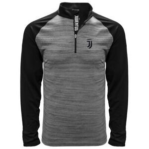 JUVENTUS LONG SLEEVE BLACK HEATHER POLO SHIRT SMALL-XXL OFFICIALLY LICENSED