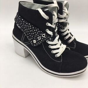 Keds High Heel Fiesta Black White Size