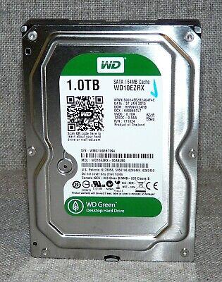 """WD Green Desktop 1TB SATA III 3.5/"""" HDD Drive 5400RPM 64MB Cache WD10EZRX"""