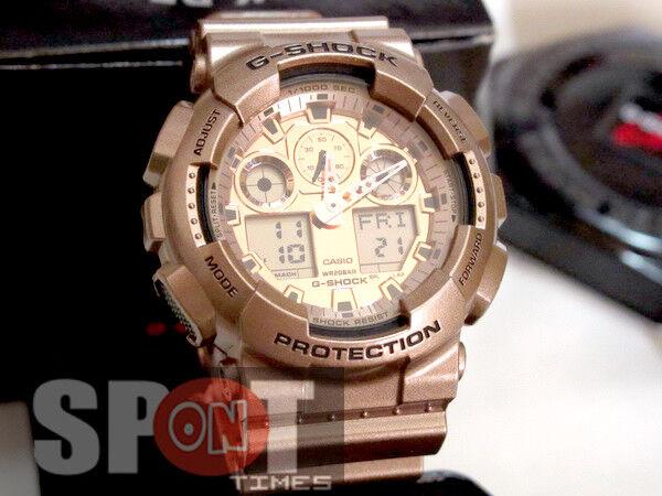 3873e409bcc9 Casio Analog Digital Sport Mens G Shock Rose Gold Watch Ga-100gd-9a for  sale online