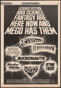 MEGO-ACTION-FIGURES-Orig-1977-Trade-AD-poster-Superman-Micronauts-Star-Trek