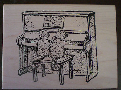 Humorous Cats Music Unmounted Rubber Stamps Sayings /& Quotes Cat Sayings