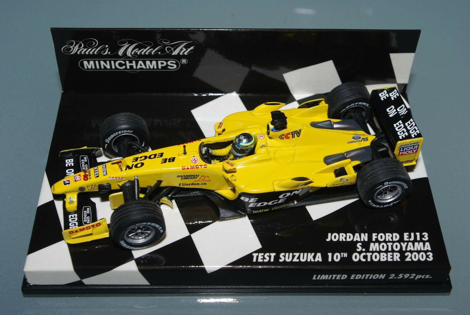 Minichamps F1 1 43 JORDAN FORD EJ13-MOTO-test Suzuka 2003-Ltd. Ed. 2592