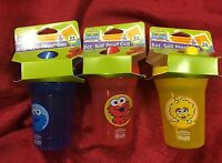 3 Pc Set Sesame Street Beginnings Sippy Cups 8oz Spill Proof Bpa Free