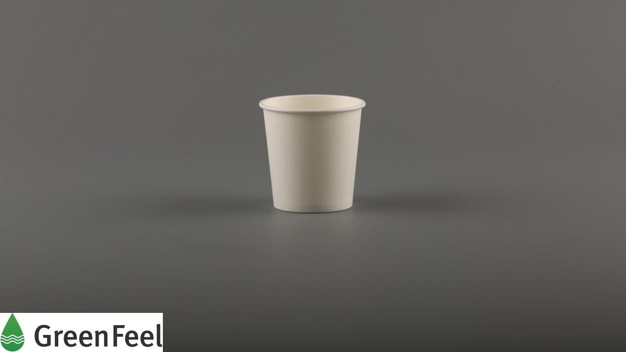 4 oz (environ 113.40 Espresso g) Livre blanc bonnets jetables échantillonnage Espresso 113.40 tiré parti de crème glacée de restauration dcf8fb