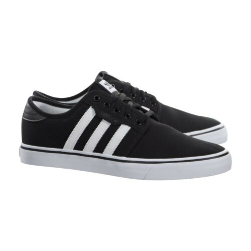 Men's Seeley Black Shoes New Adidas White Canvas In Box Size OkXZiPTwul