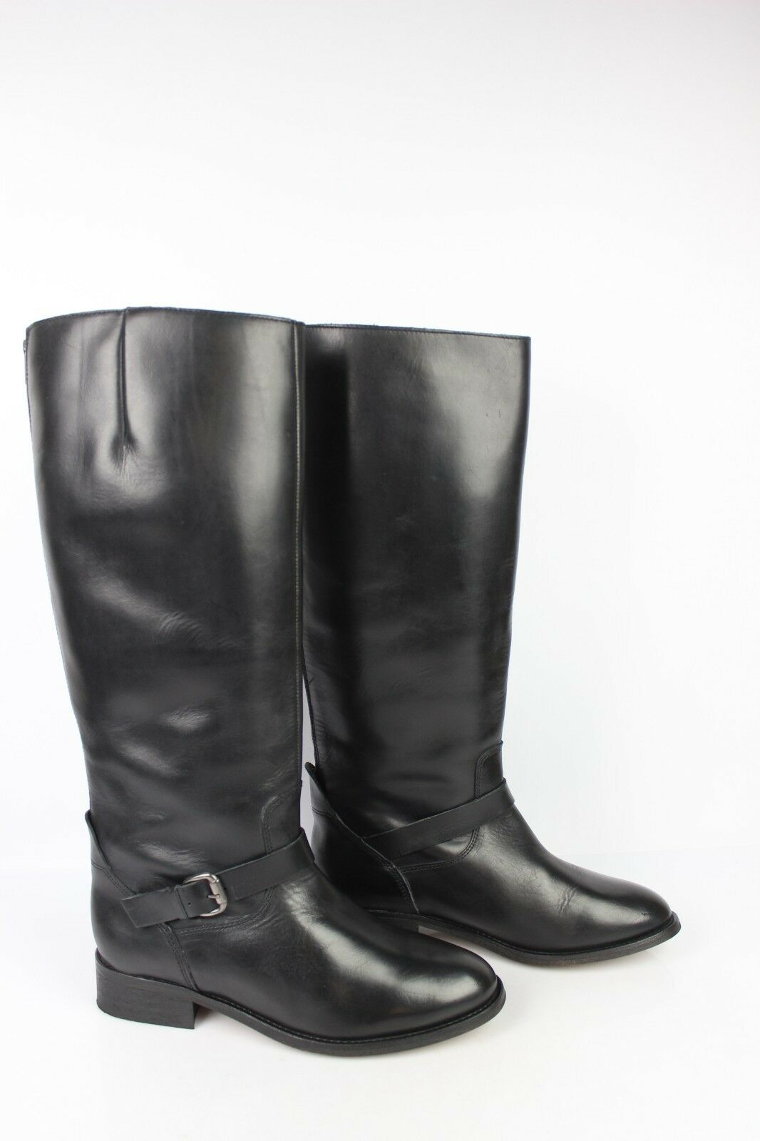 Riding Boots ANDRE Black Leather T 41 VERY GOOD CONDITION