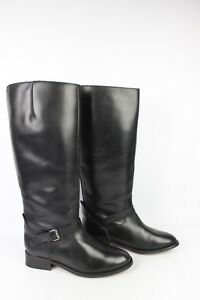 965d349faf79ff Image is loading Andre-riding-boots-black-leather-size-41-tres-