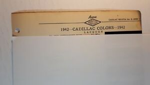 1942-CADILLAC-Original-Exterior-ACME-Color-Paint-Chips-Good-Condition-US