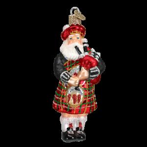 Old-World-Christmas-HIGHLAND-SANTA-40139-N-Glass-Ornament-w-OWC-Box