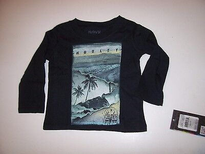 NEW Hurley long sleeve T shirt boys gray logo long sleeve 12 18 24 months