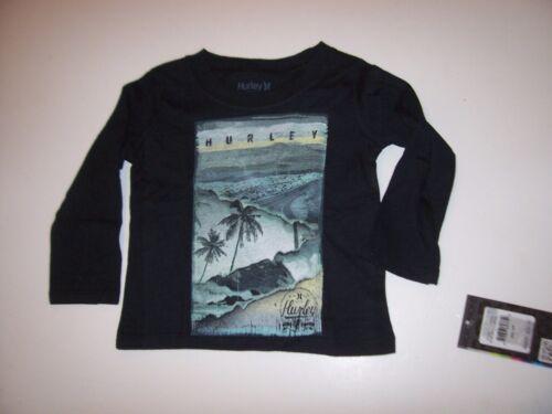 NEW Hurley long sleeve T shirt boys Black tropical long sleeve 12 months
