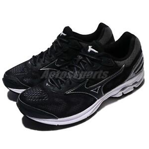 Mizuno-Wave-Rider-21-Black-Grey-Women-Running-Shoes-Trainers-Sneaker-J1GD18-0309