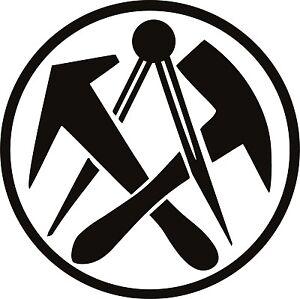 Dachdecker symbol  Dachdecker Zunft Symbol Wandtattoo Auto Aufkleber 25 cm | eBay