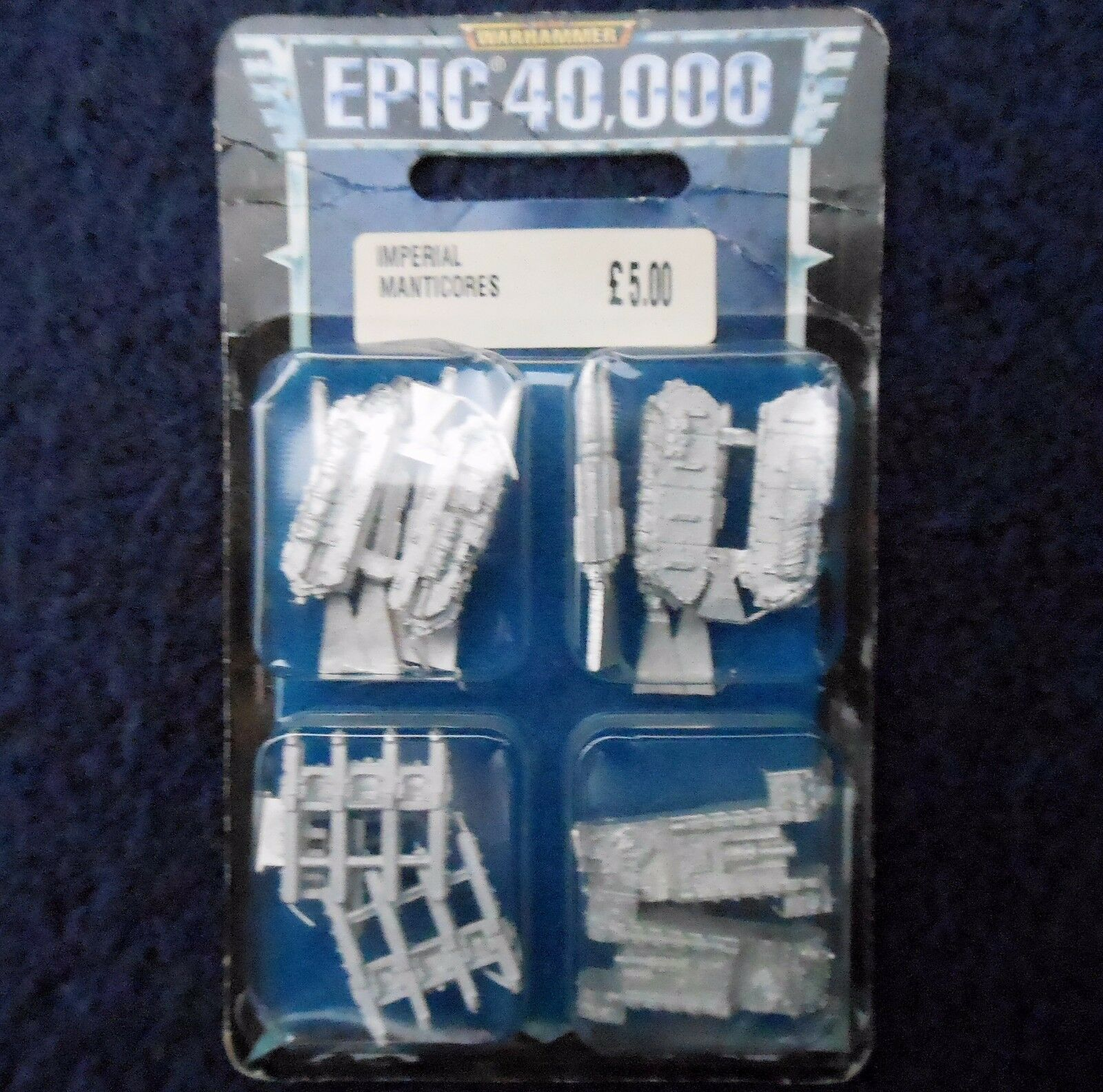 1999 Epic Imperial Guard Manticore Multi Launcher Citadel 6mm 40K Warhammer MIB