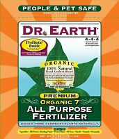 Dr. Earth 706p Organic 7 All Purpose Fertilizer In Poly Bag, 4-pound , New, Free on sale