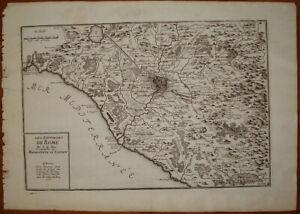 Cartina Topografica Del Lazio.Stampa Antica Carta Geografica Mappa Lazio De Fer 1700 Campagna Roma Ebay