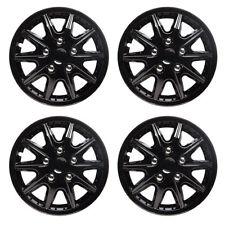 Revolution 14 Inch Wheel Trim Set Gloss Black Set of 4 Hub Cap Covers By TopTech