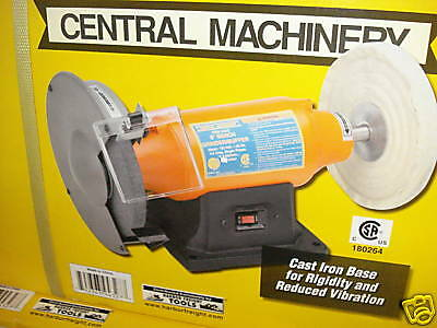 Central Machinery Bench Grinder Buffer 8 Quot 3 4 Hp Low