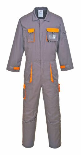 Portwest Texo Coverall Tx15 Contrast Black Grey Navy Size Men Various Overalls
