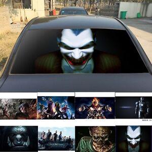 D Transparent Car Back Rear Window Decal Vinyl Sticker Joker - Rear window decals for vehicles
