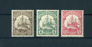 DOA n. 30-32 ** 3 valori nave disegno 1906-me 12,- + +!!! (145567)