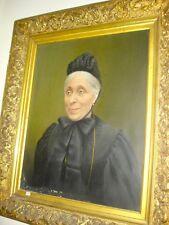 Dipinto a olio ,ritratto di avo, figura femminile, epoca fine '800