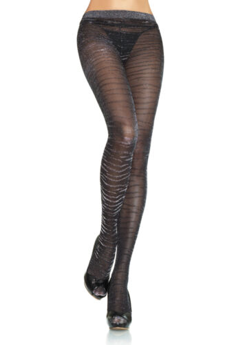Leg Avenue Christmas Lurex Zebra Tights Animal,Glitter Autumn Pantyhose